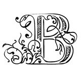 Letter B. Vector abstract  illustration Royalty Free Stock Photography
