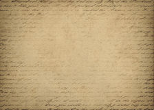 Letter background. Vintage letter with handwritten text Royalty Free Stock Images