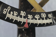 Letter balance. It is the scale of an old letter scale shown Stock Photo