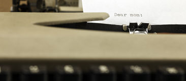A letter and a typewriter Royalty Free Stock Photos