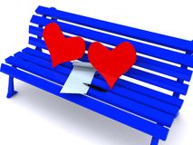 Letter on bench Stock Image