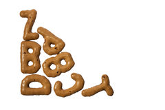 Letter biscuits Stock Photo