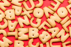 Letter biscuits Stock Photos