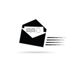 Letter black and white vector Stock Photography