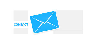 Letter blue Stock Photo