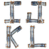 Letter of Blue jeans alphabet Royalty Free Stock Photos