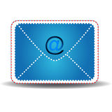 The letter with blue symbol Stock Photo