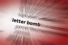 Letter Bomb stock images