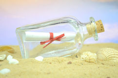 Letter in a bottle Royalty Free Stock Photography