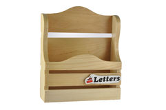 Letter box. Wooden letter box in white background Stock Photos