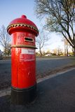 Letter box. Old fashioned red post box at side of road, Ballarat, Australia stock photo
