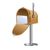 Letter box. Illustration of letter box with letters on white background Stock Images