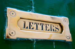 Letter box close-up Stock Image