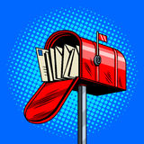 Letter box comic book style vector illustration Royalty Free Stock Photography