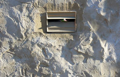 Letter Box in Concrete Wall Stock Images