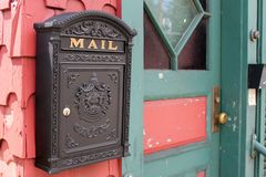 Letter Box, Door, Post Box royalty free stock photography