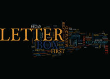 Letter Box Text Background  Word Cloud Concept Stock Image