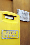 Letter-box of Vatican post. Colorful letter-box of Vatican post stock photo