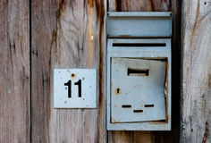 Letter box and number Royalty Free Stock Photos