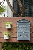 Letter Box, Wood, Home, Backyard stock photos