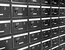 Letter Boxes Royalty Free Stock Photos