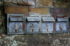 Letter Boxes. Mail Boxes on the street Royalty Free Stock Photo