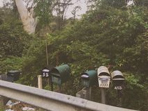 Letter Boxes in the bush Stock Photos
