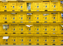 Letter boxes at the office building in Saigon, Vietnam.  Stock Photography