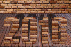 2016 letter with brick stone Stock Images