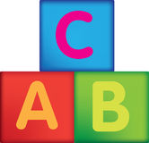 Letter building blocks Stock Photo