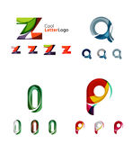 Letter business emblem collection Royalty Free Stock Images