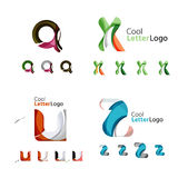 Letter business emblem collection Royalty Free Stock Photography