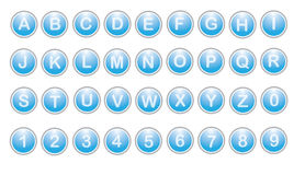 Letter buttons Royalty Free Stock Photography