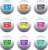 Letter buttons Stock Photography