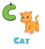 Letter C. Alphabet for children. Page with the letter C Royalty Free Stock Image