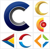 Letter C Alphabetical Logo template Royalty Free Stock Photos