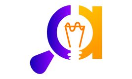 Letter C A Bulb Innovation Discovery. Logo Design Template Vector Royalty Free Stock Photos