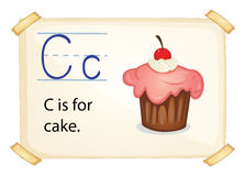 A letter C for cake Royalty Free Stock Image
