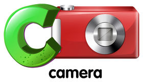A letter C for camera Royalty Free Stock Image