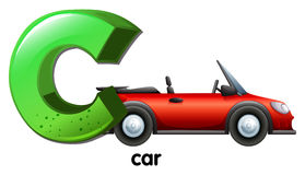 A letter C for car Royalty Free Stock Photos