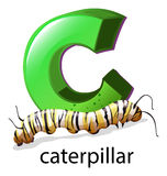 A letter C for caterpillar Stock Photo