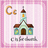 Letter C is for church Royalty Free Stock Image