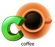 A letter C for coffee Stock Photos