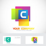 Letter C colors square logo Stock Photography