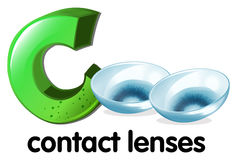 A letter C for contact lenses Stock Photo