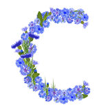 Letter C - Cornflower Royalty Free Stock Photo