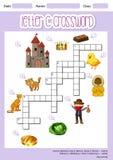 Letter C crossword template vector illustration