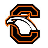 Letter C with eagle head. Great for sports logotypes and team mascots vector illustration