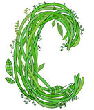 Letter C. Ecology Royalty Free Stock Images
