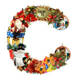 Letter C, For Christmas Decoration Royalty Free Stock Image